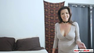 Licking my frustrated busty MILF stepmothers hot pussy image