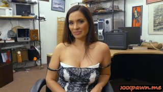 Busty lady BJ and_gets boned by pawn man image