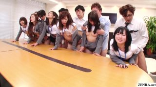 Image: JAV huge group sex office party in HD Subtitled