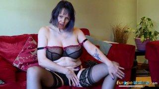 Image: EuropeMaturE Lonely Lady Solo Masturbation Video