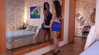Upskirt tease_by the mirror image