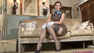 Image: Mature lady stripping and teasing