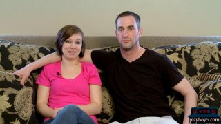 Amateur swinger couple feels ready to do a full swap image