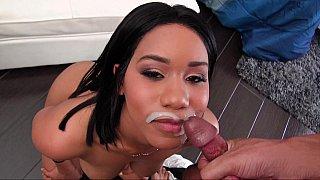 Ebony GF earns a_cum mustache image