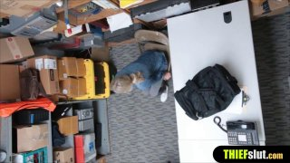Blonde shoplifter chick punish fucked by a mall officer image