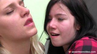 Foursome lesbian orgy with Tessa Sara and Christina. image