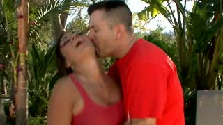 Dream girl Claudia Valentine gets horny and blows cock image