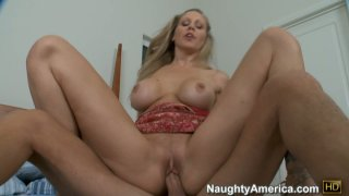 Hussy blonde Julia Ann is riding a_small cock and enjoys it image