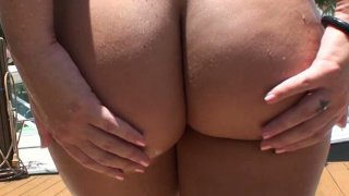 Maddy Oreilly bis ass bbw blonde sucks and rides cock on POV video. image