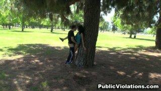 Hot public sex in the park. image