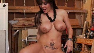 Anal lover Claire Dames_with a huge and perfect rounded tits stretching her asshole image