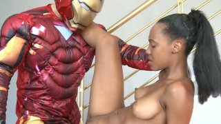 Iron man came to fuck black whore Noe Milk image