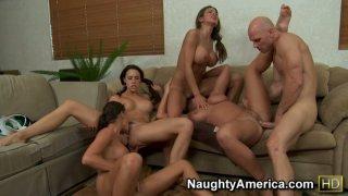 Image: Group sex including Chanel Preston & Hunter Bryce_& Kourtney Kane & Sadie Swede