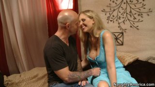 Blonde slut Julia Ann fucking at the first date and sucking cock deepthroat image