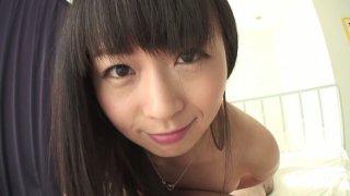 Nozomi Hazuki sucks dick and swallows cum in POV image