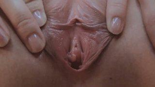 Image: Shy girl Keiko Okuyama shows her pussy and plays with tiny vibrator