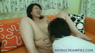 Naho Tajiri gets her wet and horny cunt eaten and fingered hard image