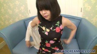 Image: Awesome milf Yukari Yamagishi shows her mature hairy pussy