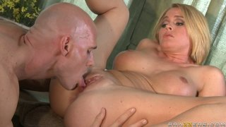 Image: Extremely hot fucking scene in bathroom with busty Krissy Lynn