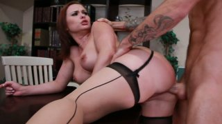 Busty milf Katja Kassin rides cock with her asshole image