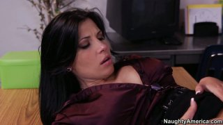 Business woman Rebeca Linares gets her pussy licked image