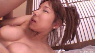 Image: Dirty slut Serina Hayakawa wearing kimono gets fucked hard in a missionary position and doggystyle