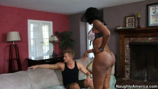 Nyomi Banxxx sends  her bubbled ass for riding image