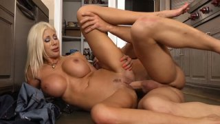 Image: Hot european immigrant Puma Swede gets poked in kitchen