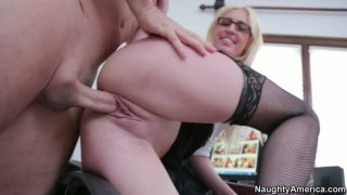 Image: Victoria White gets fucked doggy on the working place