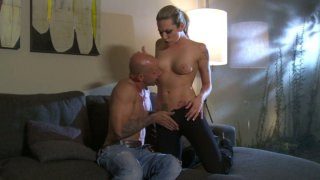 Voracious tattooed skank Bailey Blue gives a head and gets her clam eaten image