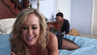 Young stud spies on Brandi Love and gets caught for sex image