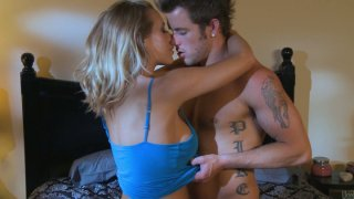 Handsome and brutal macho hits on Nicole Aniston and gets her into the bed image