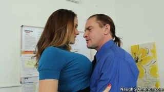Image: Filthy secretary Chanel Preston receives fingering from her boss