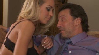 Hot and sexy Nicole Aniston seduces the dude to fuck and practice 69 position image