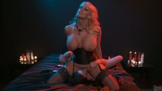 Sexy milf Stormy Daniels plays with bootylicious babe  Andy San_Dimas image
