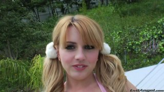 Cute faces Lexi Belle and Blue Angel posing on a_cam in sexy doll outfits image