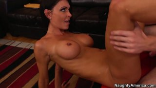 Slim girl with big peachy boobs Jessica Jaymes gets fucked image