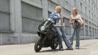 Legendary porn babes Alexis Texas and Briana Blair fucking biker boy image