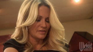 Two stunning whores Jessica Drake and Kirsten Price play with each other image