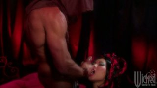 Asian brunette slut Asa Akira dominates this dude on top image