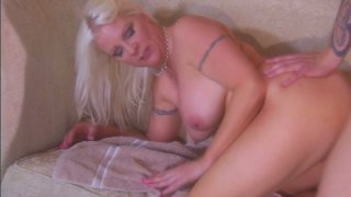 Plump blond housewife Veronica Vaughn was caught cheating her husband image