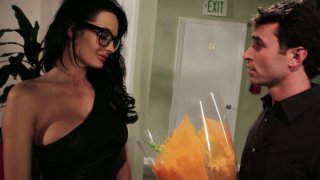 Image: Alektra Blue fucks a guy who brought her flowers
