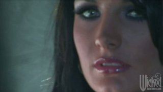 Two experienced porn sluts Jessica Drake and Alektra Blue fuck with a dildo image