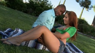 Image: Steamy quickie on a_picnic with Ashli Orion pleasing huge BBC