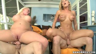 Two chicks Angel Vain and Nicole Aniston have fun with two guys image