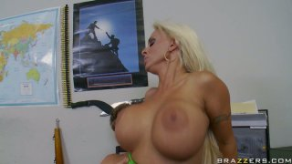 Busty milf slut Holly Halston gets rammed hard from behind image