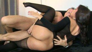 Image: Simone Peach sucks a massive dick and gets hammered hard