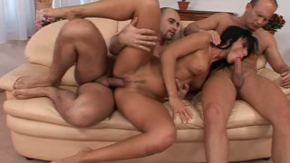 Hot and dirty-minded brunette Simone Peach is pro in pleasing the tools image