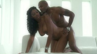 Black dude fucks his gorgeous ebony babe Nyomi Banxxx image