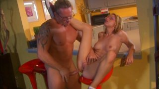 Ugly blondie_in glasses Lexi Belle gets fucked in the bar image